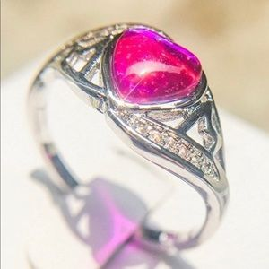 Jewelry - 🚩🚩🚩Pink Heart Zircon MOM Ring  Last Chance Item
